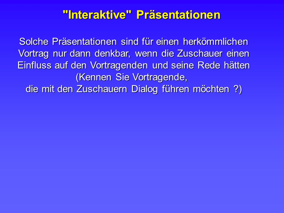 Interaktive Präsentationen