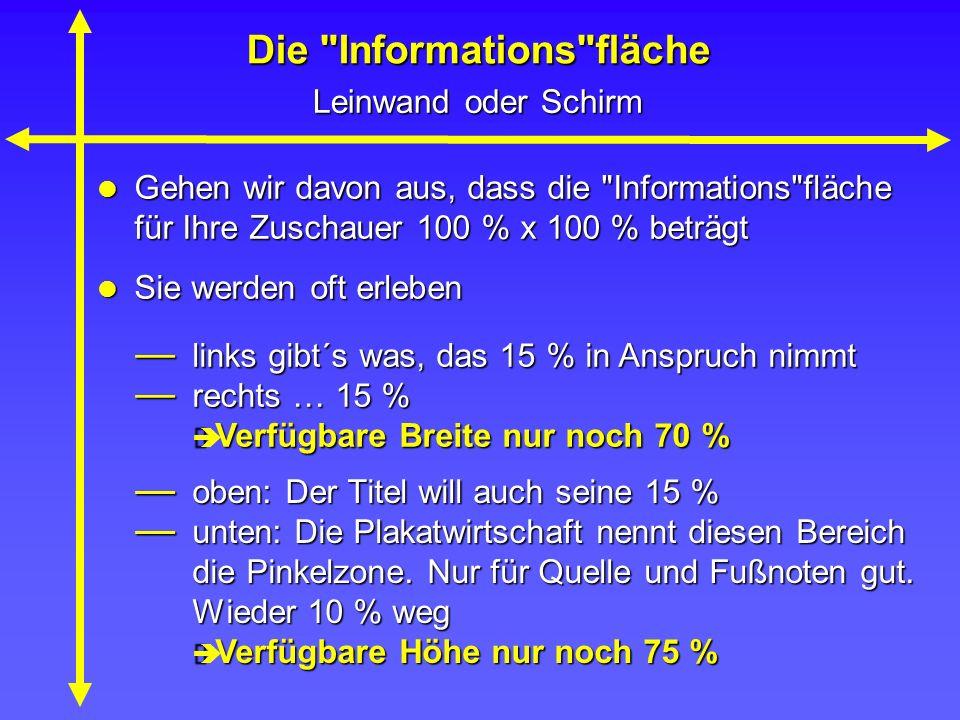 Die Informations fläche