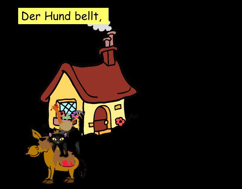 Der Hund bellt,