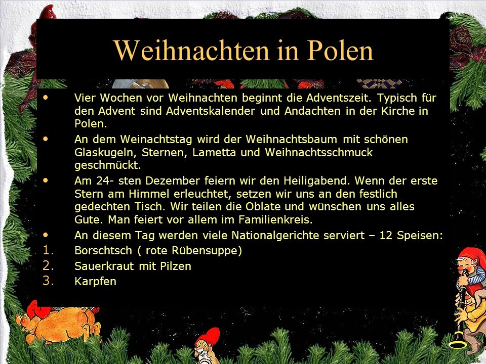 weihnachten in polen und in deutschland ppt video online. Black Bedroom Furniture Sets. Home Design Ideas