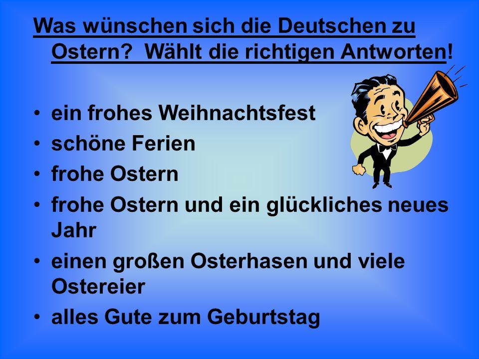 Was wünschen sich die Deutschen zu Ostern