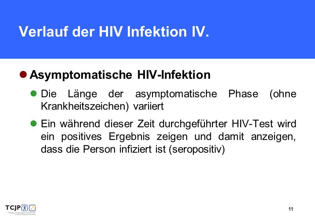 Verlauf der HIV Infektion IV.