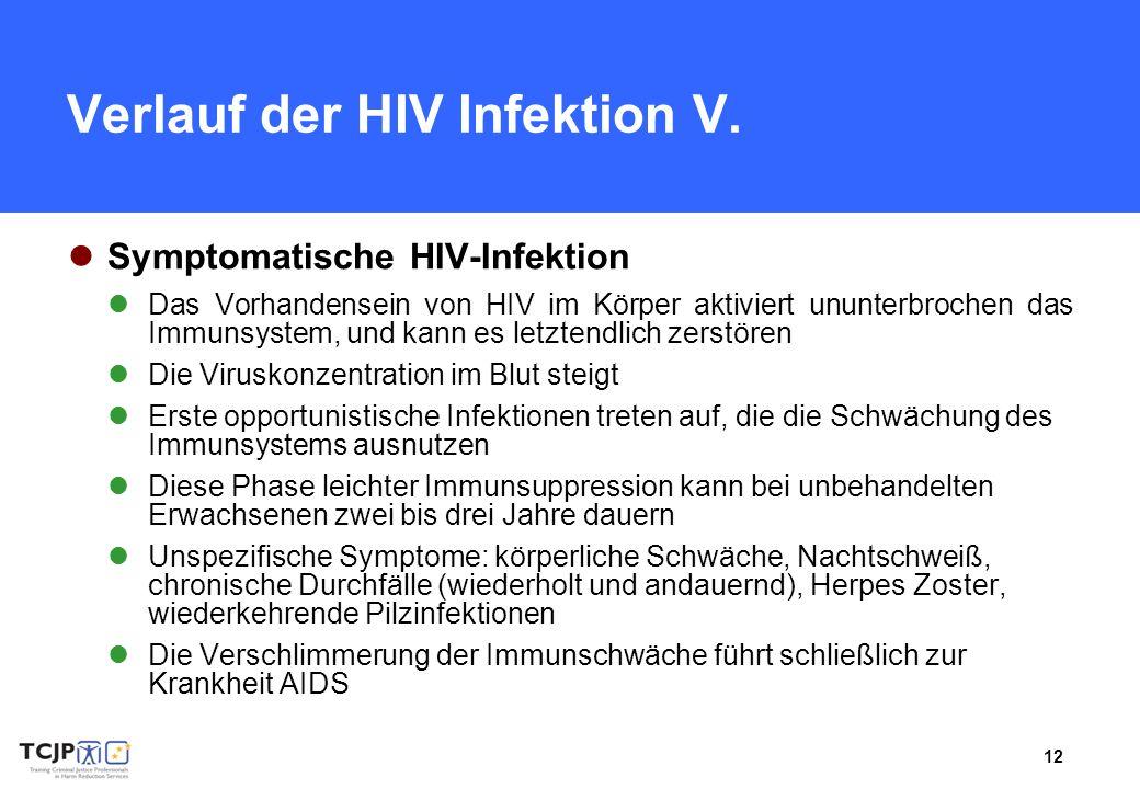 Verlauf der HIV Infektion V.