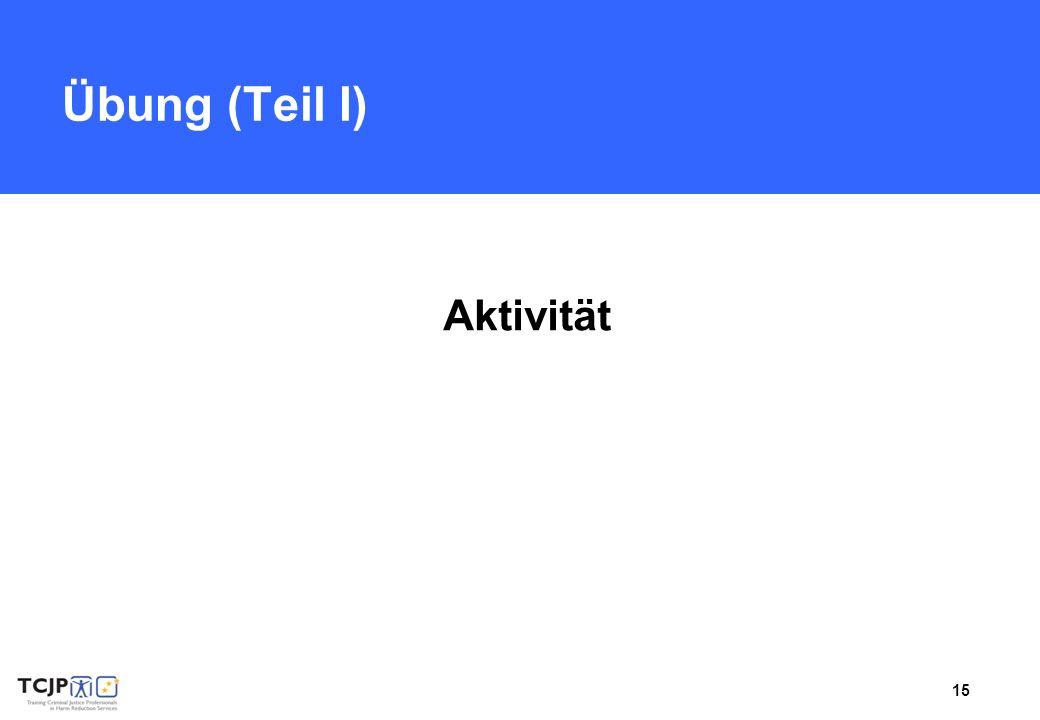 Übung (Teil I) Aktivität Benötigtes Material: