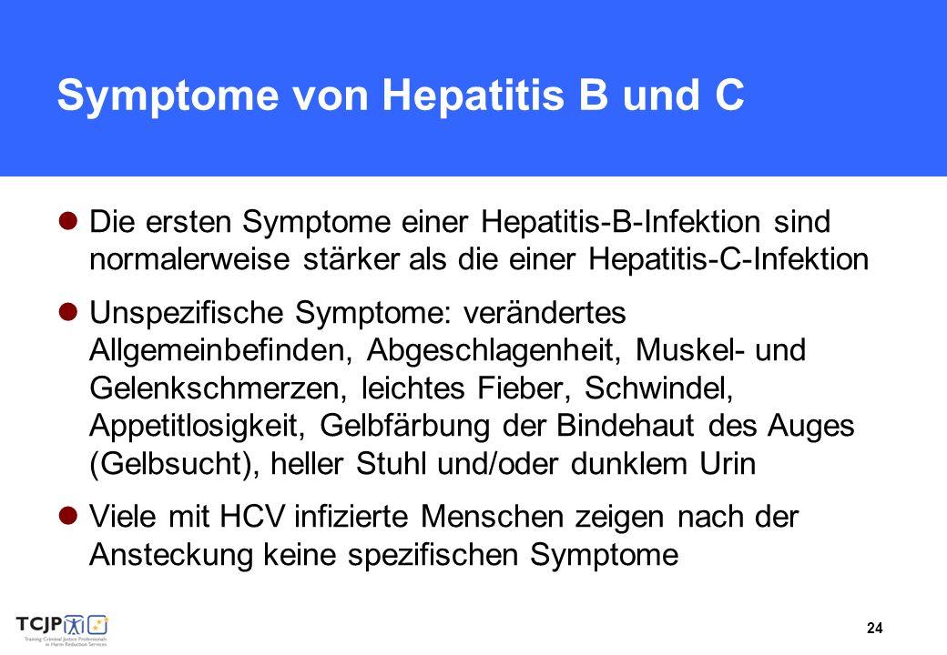 Symptome von Hepatitis B und C