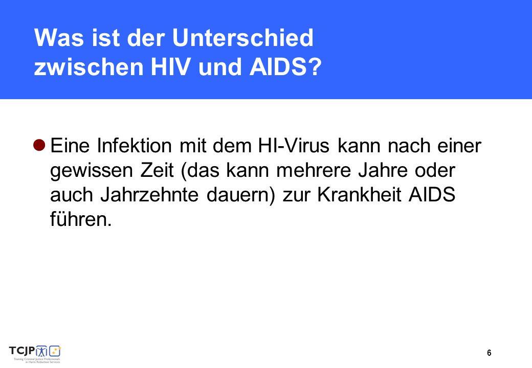 Was ist der Unterschied zwischen HIV und AIDS