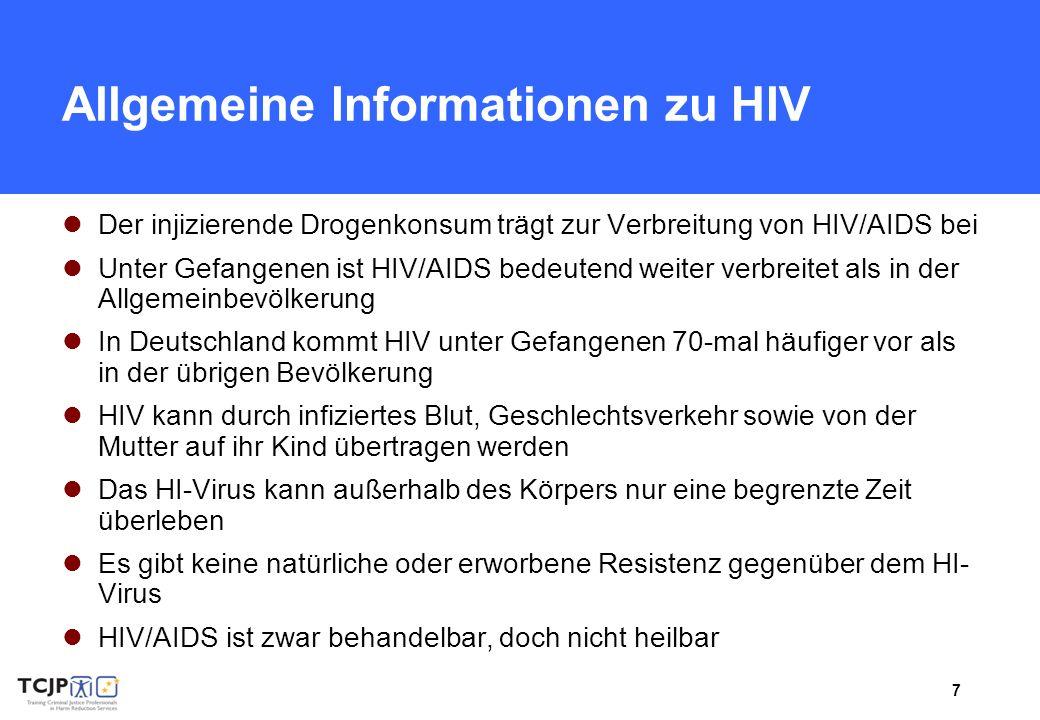 Allgemeine Informationen zu HIV