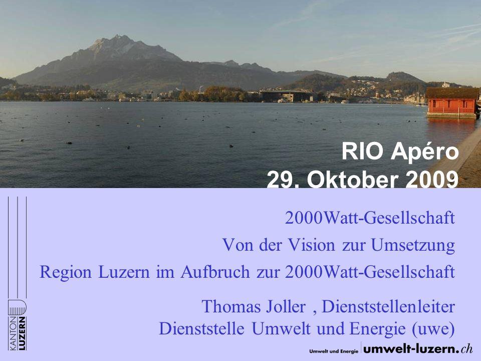 RIO Apéro 29. Oktober 2009 2000Watt-Gesellschaft