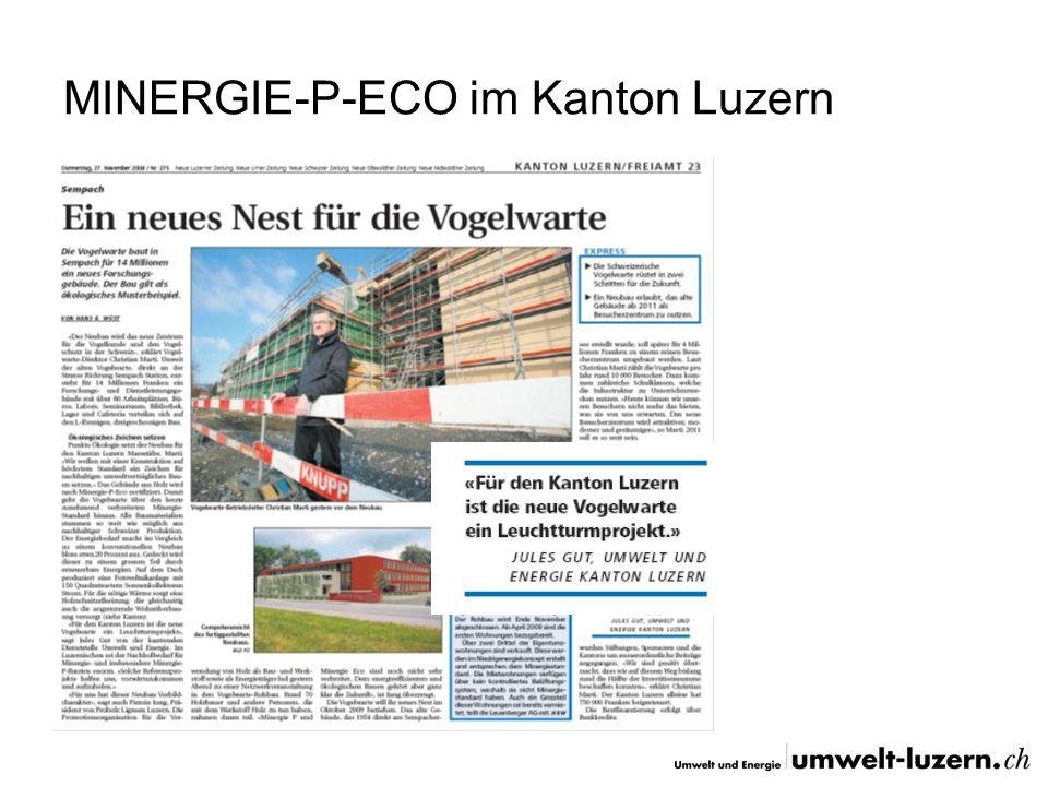 MINERGIE-P-ECO im Kanton Luzern