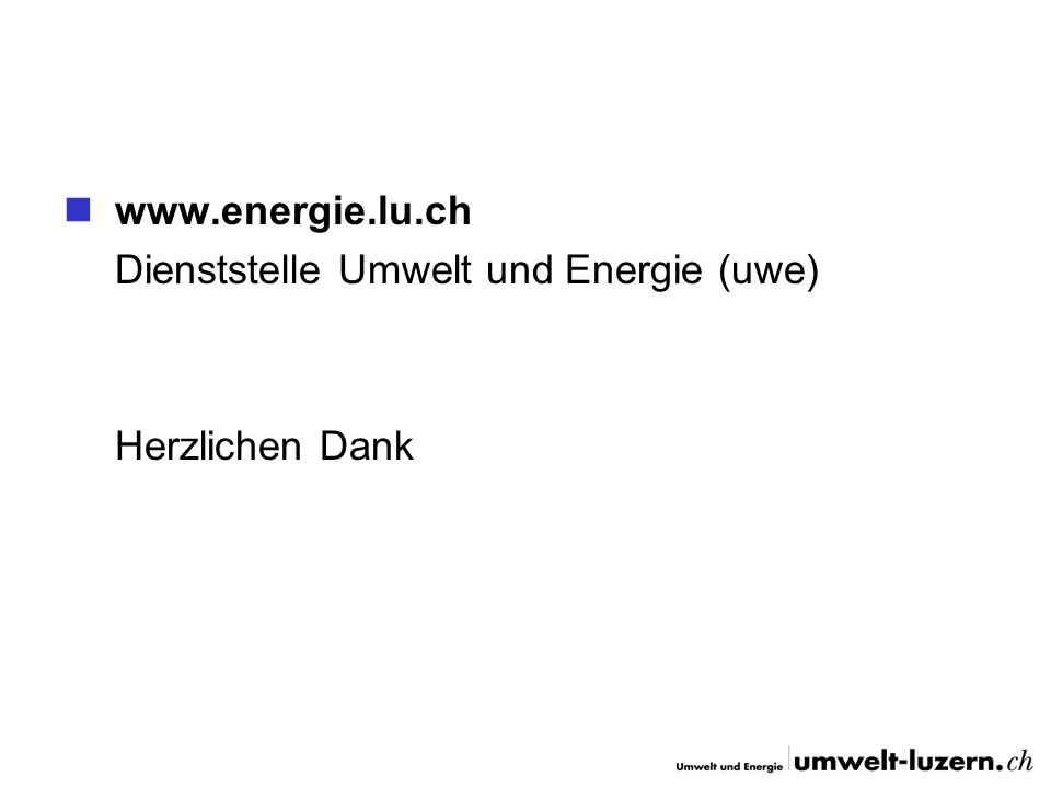 Dienststelle Umwelt und Energie (uwe)