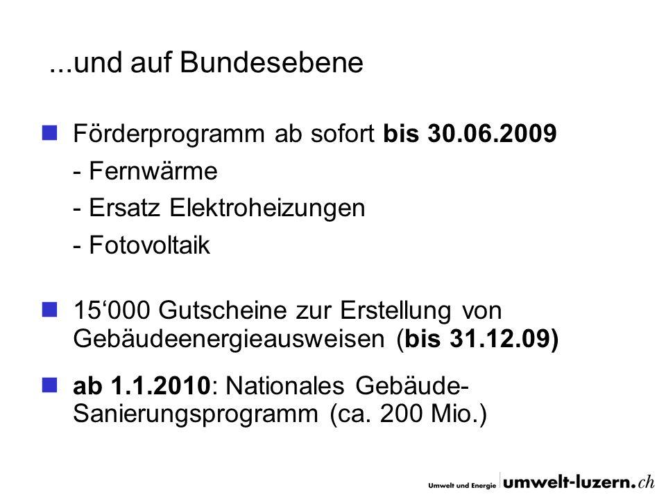 ...und auf Bundesebene Förderprogramm ab sofort bis 30.06.2009