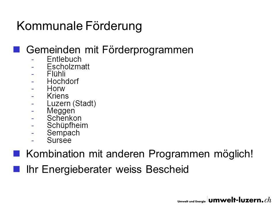 Kommunale Förderung Gemeinden mit Förderprogrammen