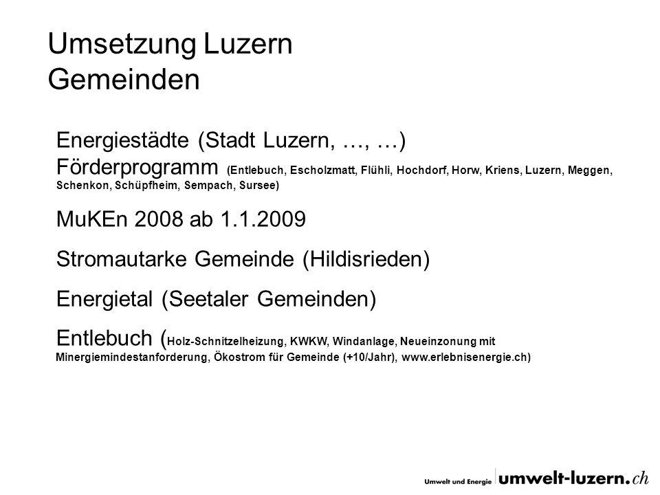 Umsetzung Luzern Gemeinden