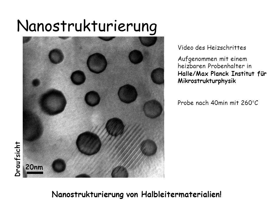 Nanostrukturierung Nanostrukturierung von Halbleitermaterialien!