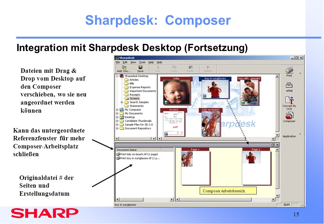 Sharpdesk composer