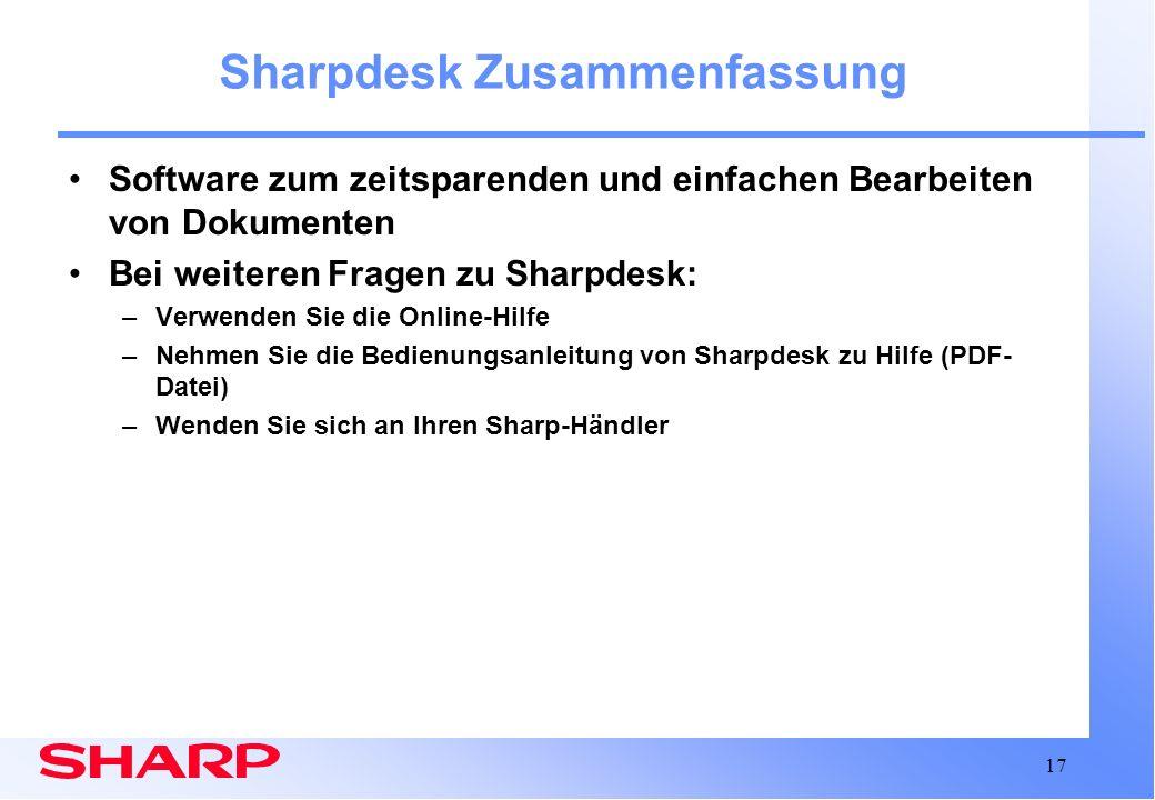 Sharpdesk Zusammenfassung