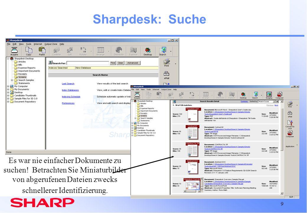 Sharpdesk: Suche