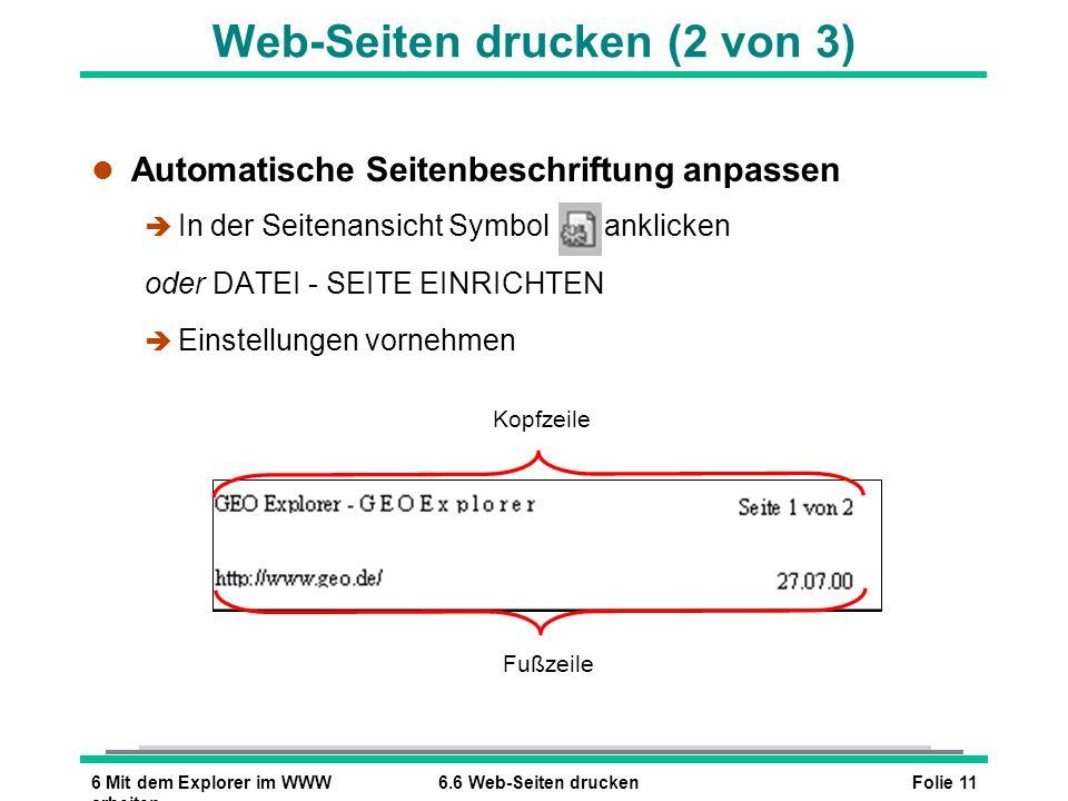 Web-Seiten drucken (2 von 3)