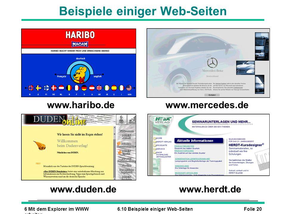 Beispiele einiger Web-Seiten