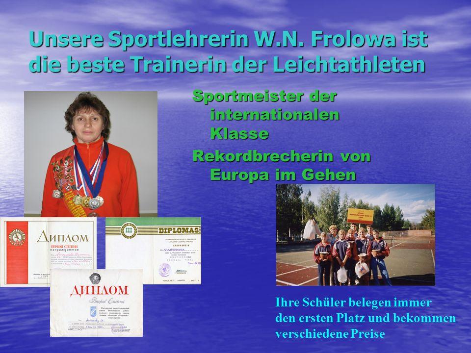 Unsere Sportlehrerin W. N