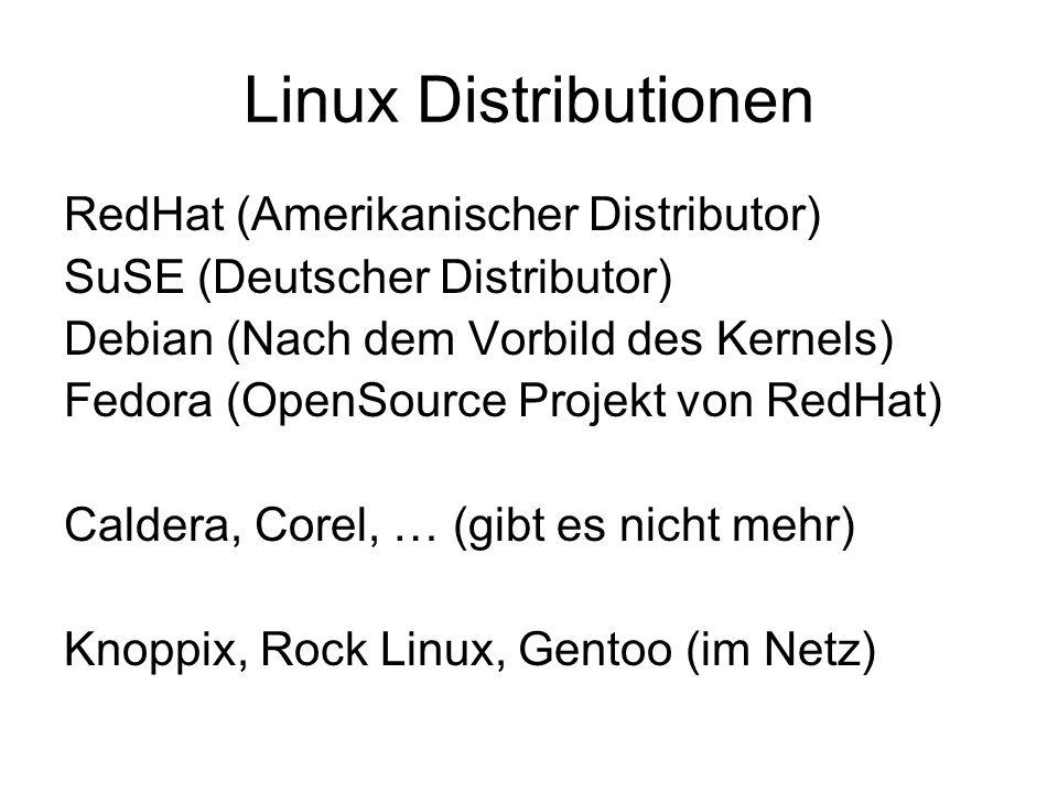 Linux Distributionen RedHat (Amerikanischer Distributor)