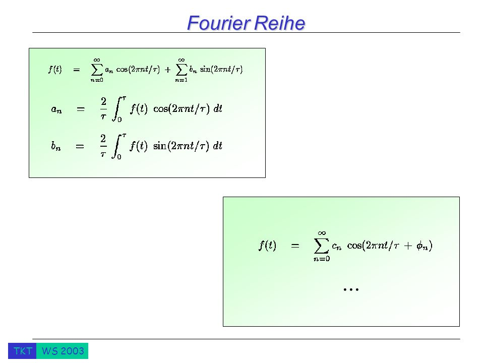 Fourier Reihe What happens when you change the period Why the first sounds terrible In nature no sound is pure.