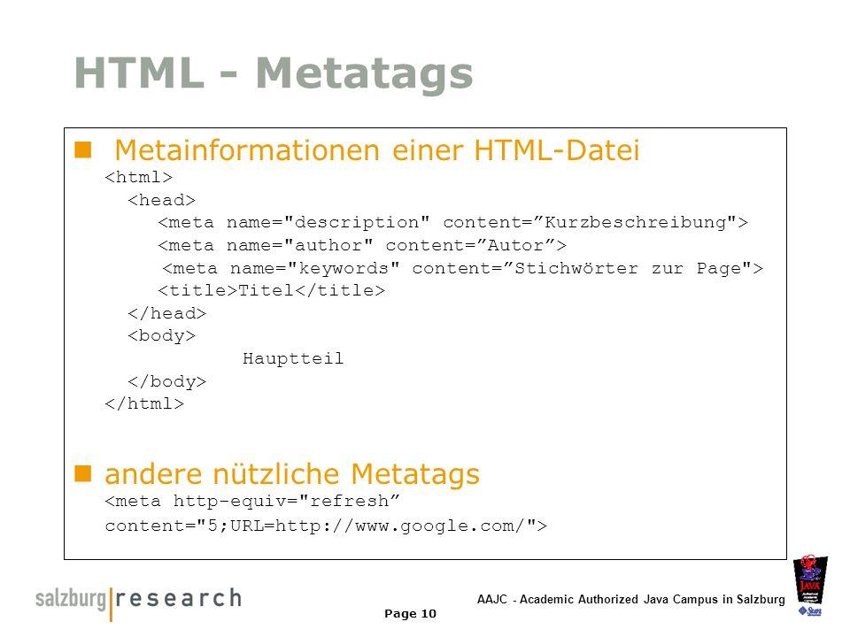 HTML - Metatags