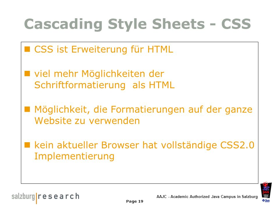 Cascading Style Sheets - CSS