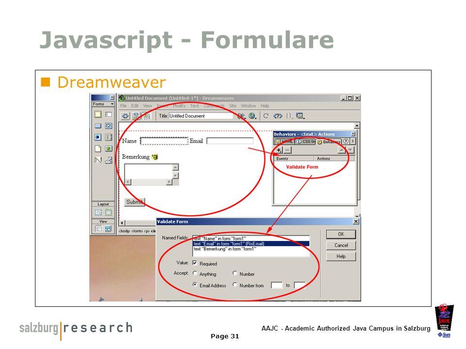Javascript - Formulare