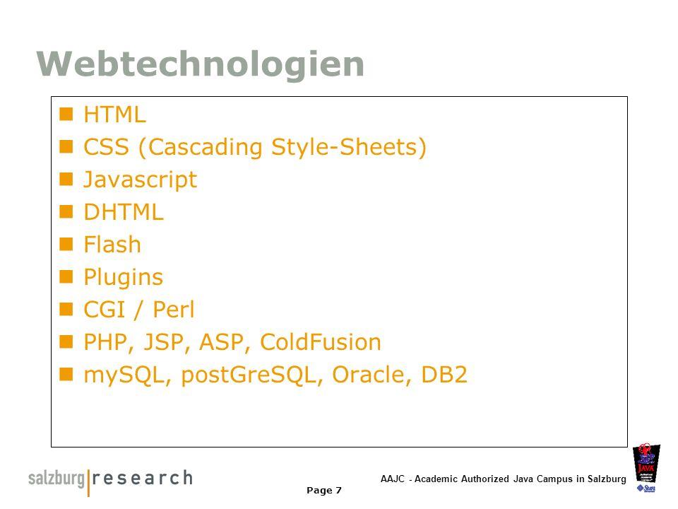 Webtechnologien HTML CSS (Cascading Style-Sheets) Javascript DHTML