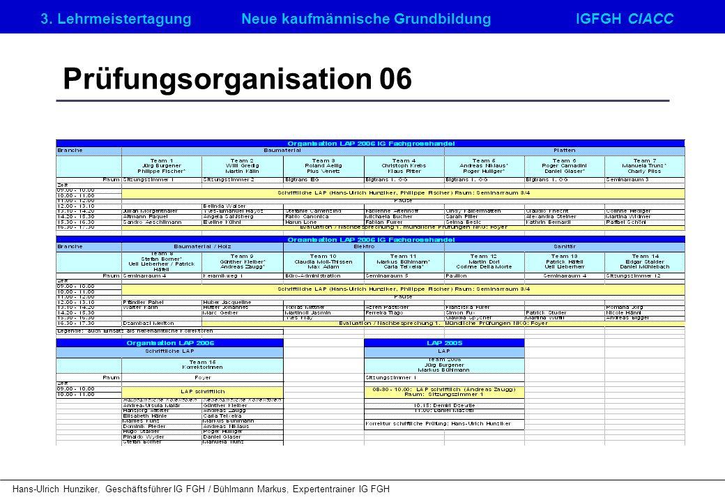 Prüfungsorganisation 06