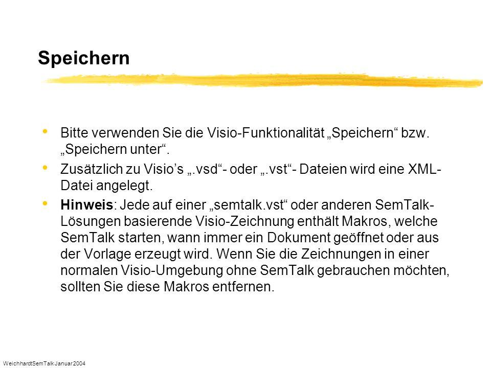 """SpeichernBitte verwenden Sie die Visio-Funktionalität """"Speichern bzw. """"Speichern unter ."""
