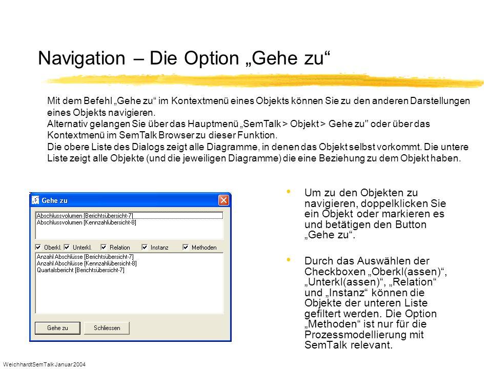 """Navigation – Die Option """"Gehe zu"""