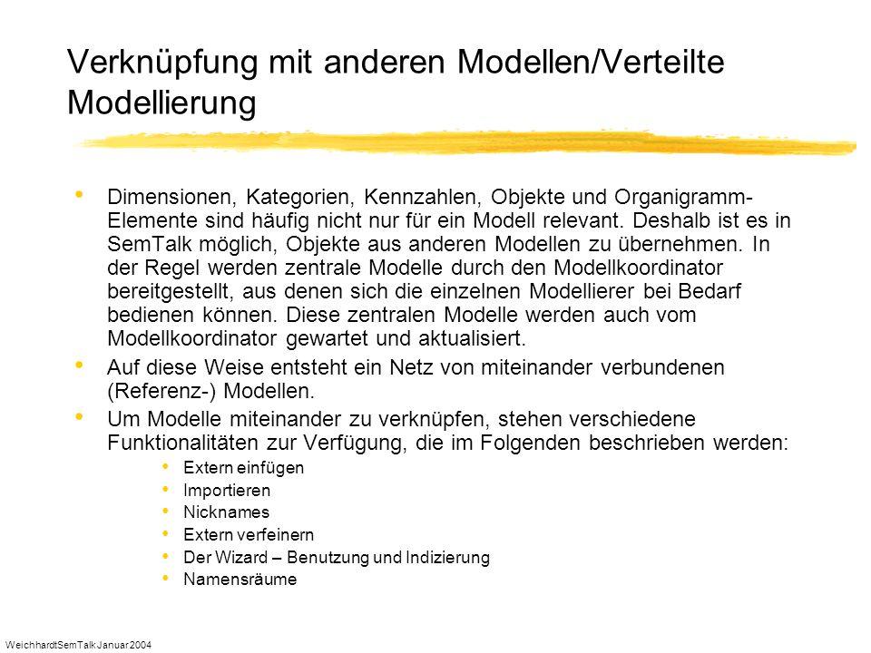 Verknüpfung mit anderen Modellen/Verteilte Modellierung