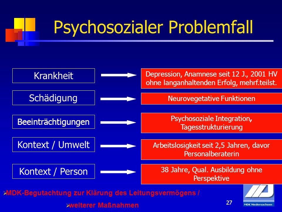 Psychosozialer Problemfall