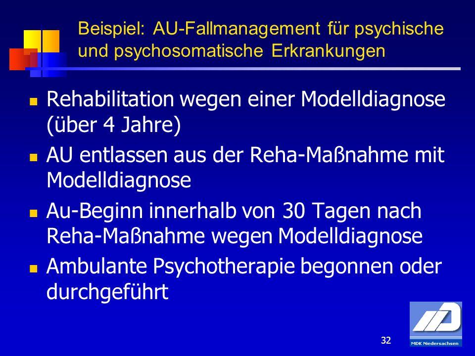 Rehabilitation wegen einer Modelldiagnose (über 4 Jahre)