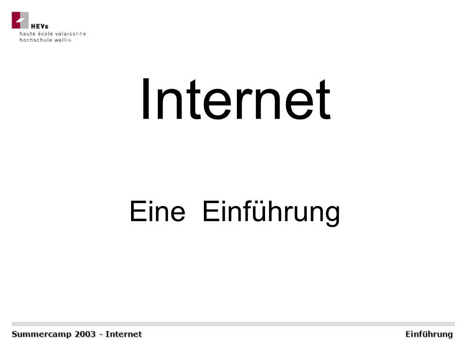 Internet Eine Einführung