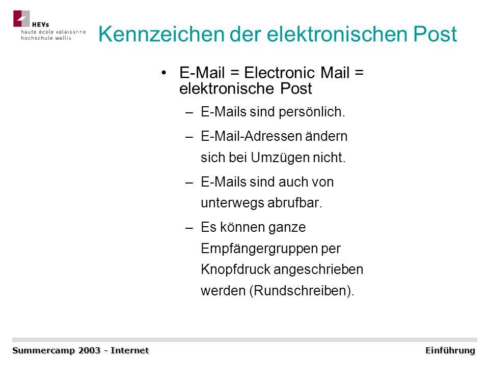 Kennzeichen der elektronischen Post