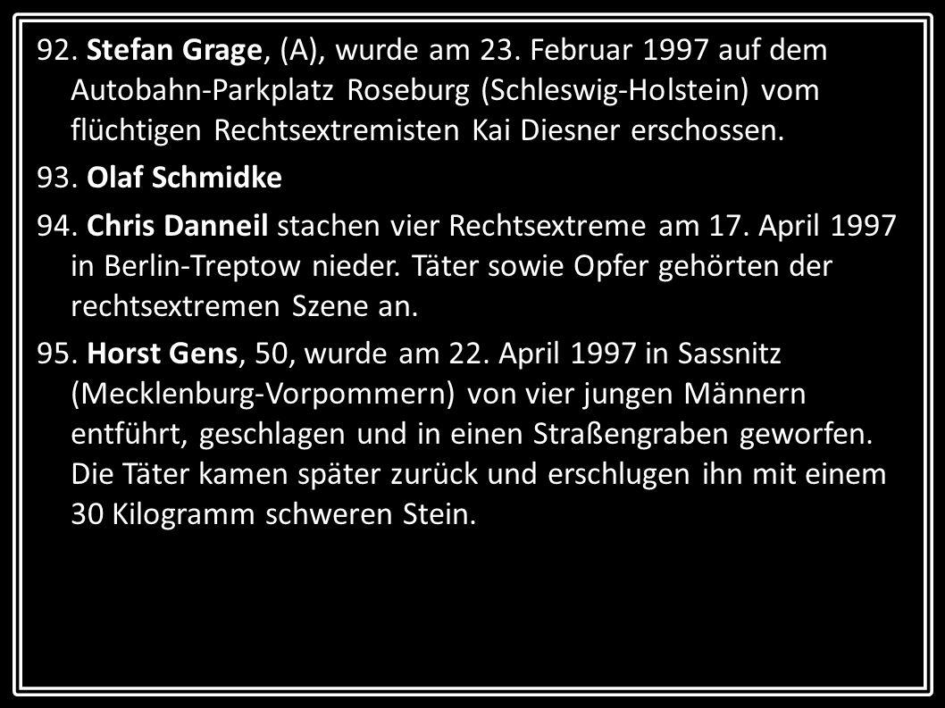 92. Stefan Grage, (A), wurde am 23