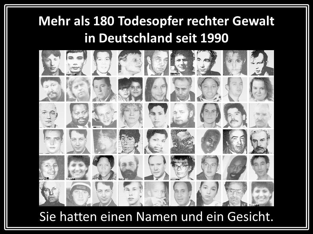 Mehr als 180 Todesopfer rechter Gewalt in Deutschland seit 1990