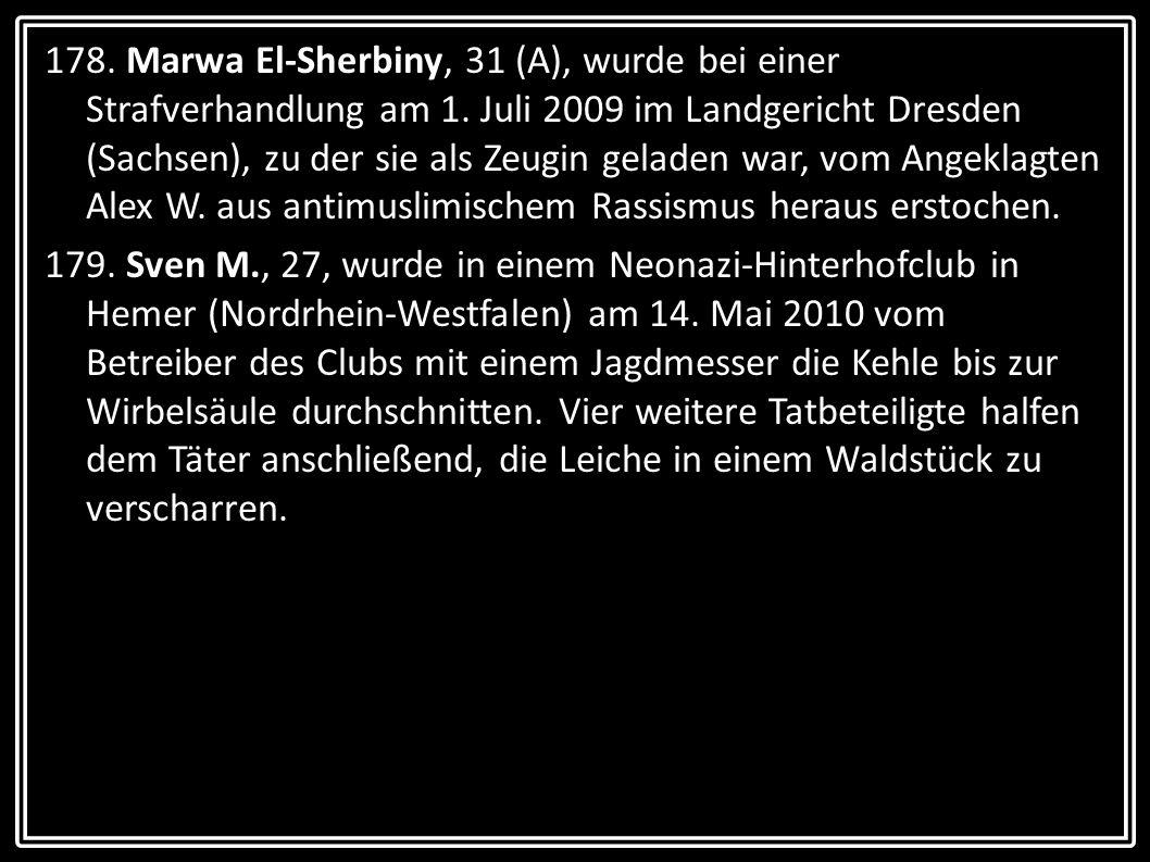 178. Marwa El-Sherbiny, 31 (A), wurde bei einer Strafverhandlung am 1