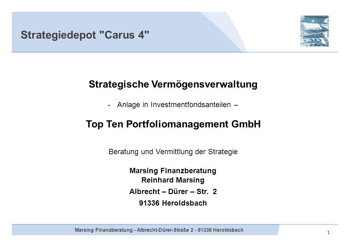Strategiedepot Carus 4 Strategische Vermögensverwaltung