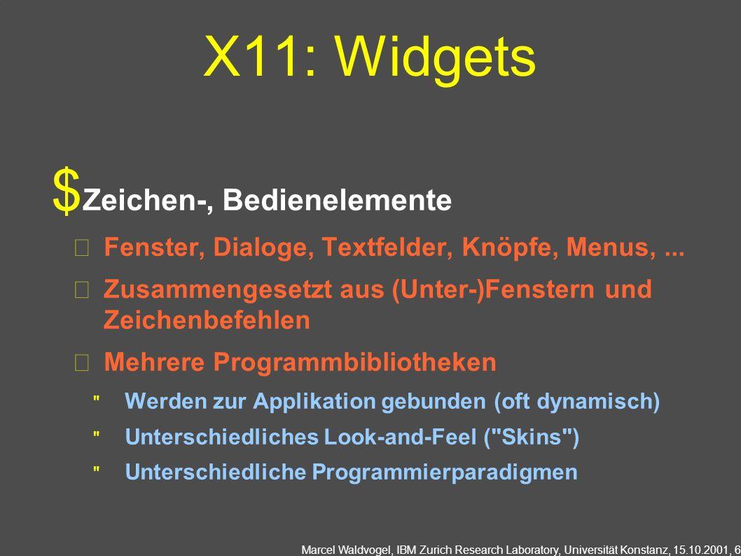 X11: Widgets Zeichen-, Bedienelemente