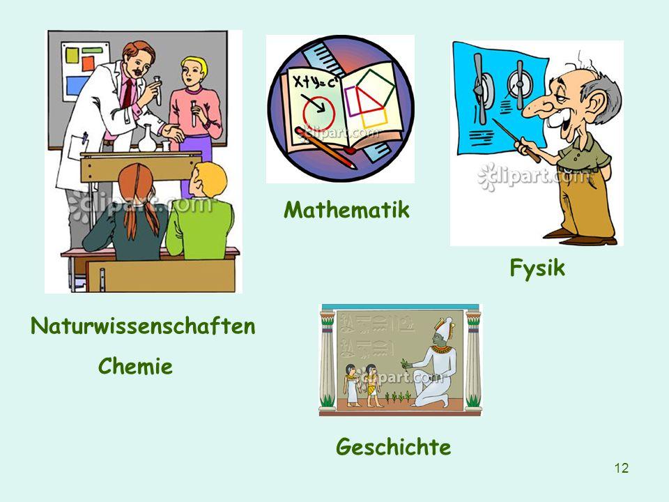 Mathematik Fysik Naturwissenschaften Chemie Geschichte
