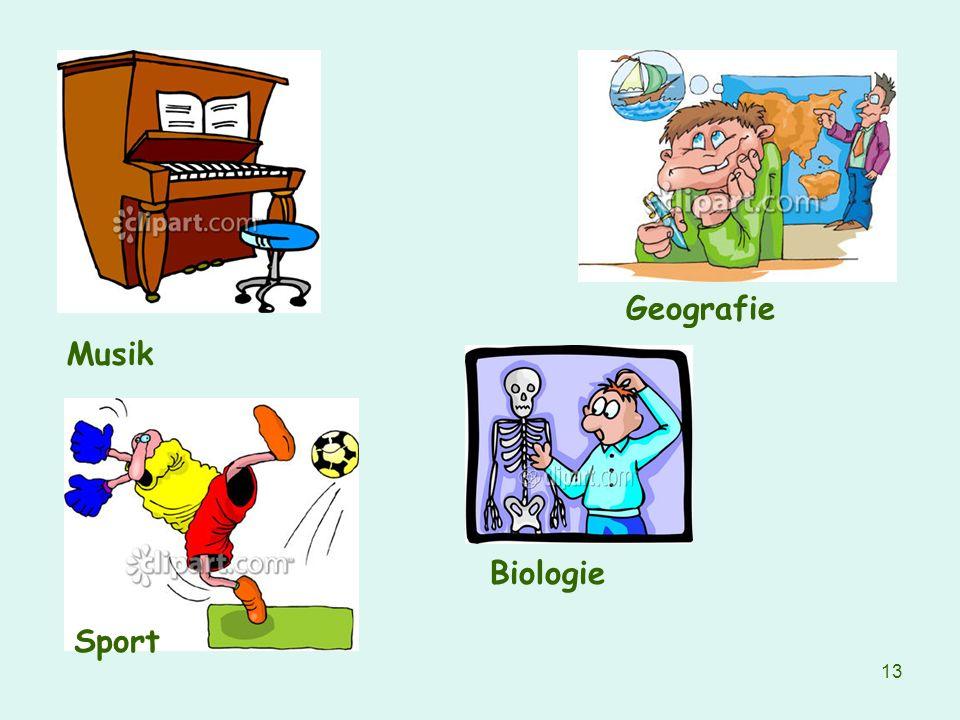 Geografie Musik Biologie Sport