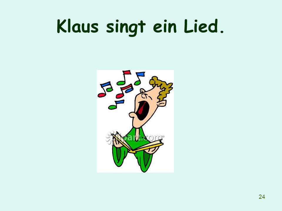 Klaus singt ein Lied.