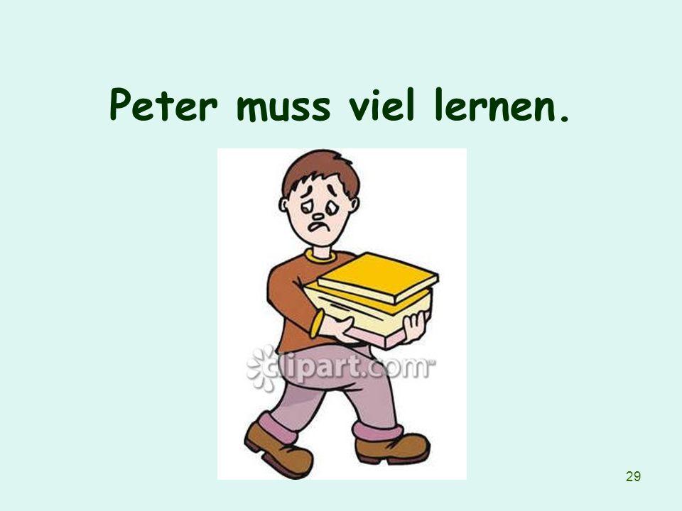 Peter muss viel lernen.