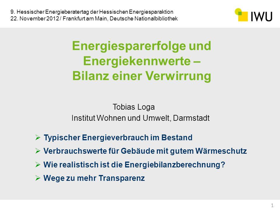 Energiesparerfolge und Energiekennwerte – Bilanz einer Verwirrung