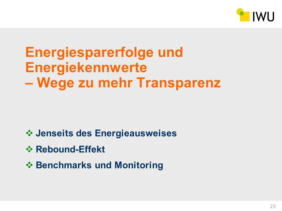 Energiesparerfolge und Energiekennwerte – Wege zu mehr Transparenz