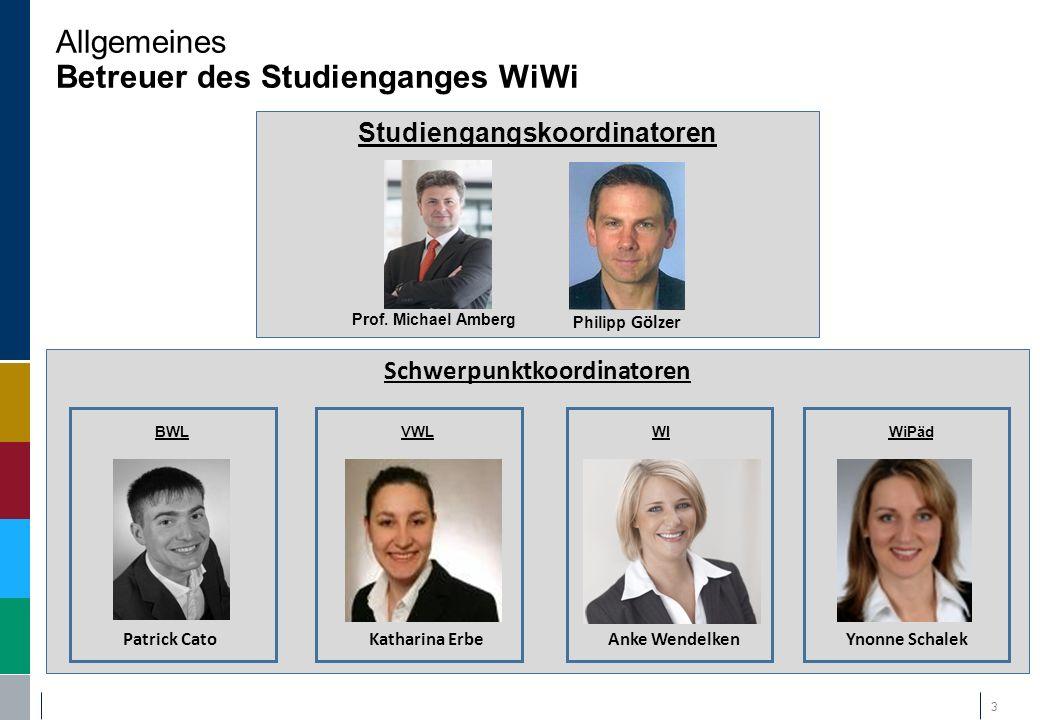 Allgemeines Betreuer des Studienganges WiWi